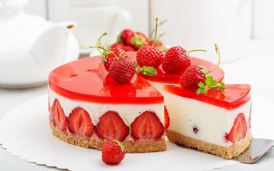 Želė tortai desertai