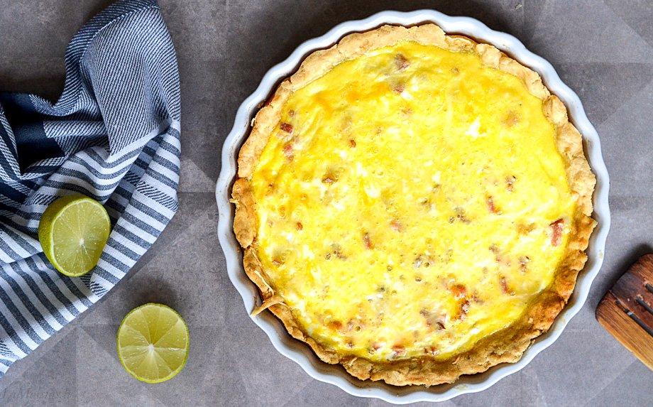 Prancūziškas Lotaringijos pyragas su kumpiu ir sūriu