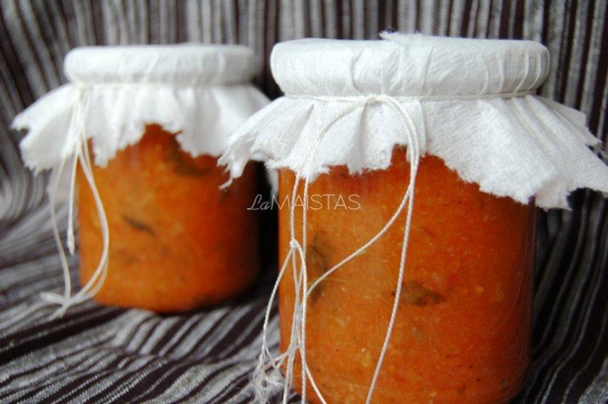 Svogūnų ir pomidorų pagardas žiemai