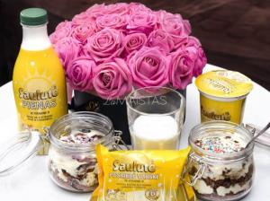 Sluoksniuotas meduolių desertas pagal Iglę Bernotaitytę