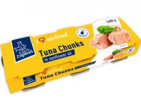 ZIGMO tuno gabaliukai saulėgrąžų aliejuje
