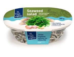 ZIGMO jūros kopūstų salotos su silkių file česnakiniame padaže