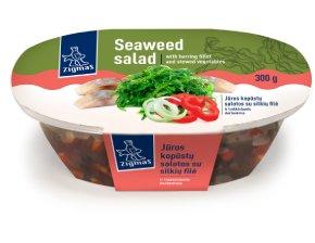ZIGMO jūros kopūstų salotos su silkių filė ir troškintomis daržovėmis