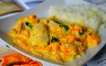 Vištiena su morkų grietinėlės padažu