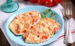 Vištienos kepsneliai su pomidorais ir sūriu