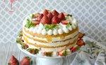 Gaivus jogurtinis tortas su konservuotais persikais
