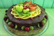 Kakavinis tortas su vyšniomis ir varške