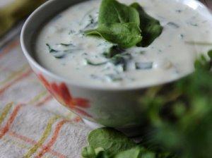 Šalta špinatų sriuba