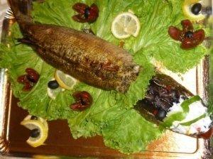 Šventinė įdaryta lydeka su žuvies prieskoniais