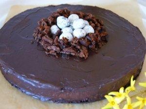 Šokoladinis varškės tortas Velykoms
