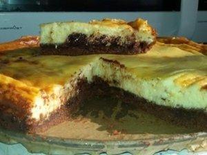 Varškės ir sausainių pyragas