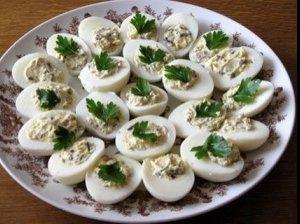 Silkių ir kiaušinių užkandis