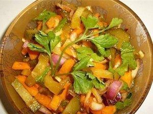 Moliūgo salotos su citrinų džemu