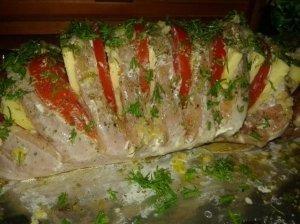 Mėsos armonikėlė su daržovėmis