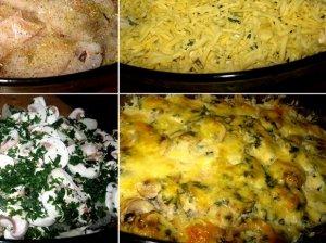 Žuvies apkepas su sūriu ir pievagrybiais