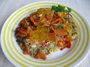 Daržovių apkepas su malta mėsa