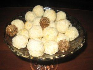 Saldžios kokosinės sniego gniūžtės