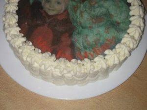 Maskarponės sūrio tortas su valgomu paveikslėliu
