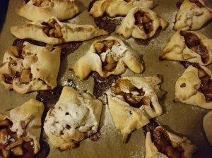 Šilti sausainiai su karamele ir obuoliais
