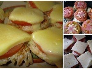 Eskalopas su pomidorais ir sūriu