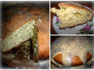 Aguoninis pyragas su citrininiu glajumi