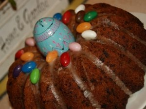 Šokoladinis keksas su kriaušėmis