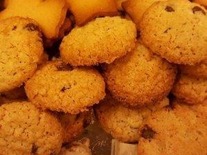 Avižiniai sausainiai su šokolado gabaliukais
