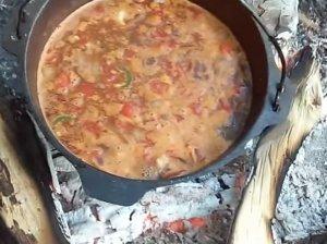 Laužo vištienos sriuba