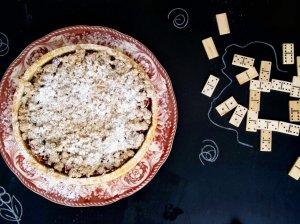 Slyvų ir vynuogių pyragas