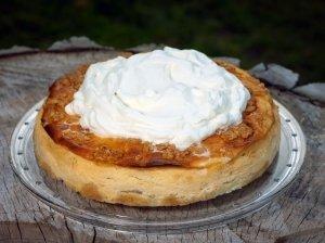 Varškės ir obuolių pyragas
