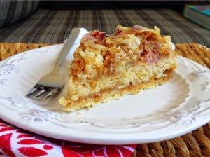 Greitas obuolių pyragas su manais - be tešlos ir be kiaušinių