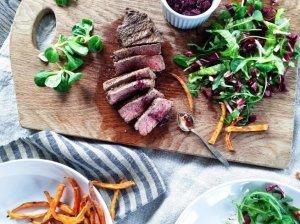 Sauso brandinimo jautienos steikas