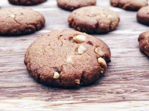 Traškūs žemės riešutų sviesto sausainiai