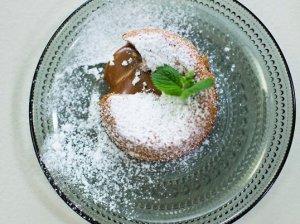 Karamelinio šokolado pyragaitis LAVA CAKE