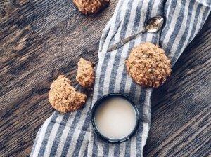 Avižiniai sausainiai su imbiero cukatais