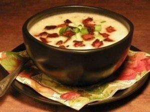 Pertrinta kruopų sriuba su spirgučiais