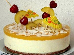 Gaivusis nekeptas Pina Colada tortas