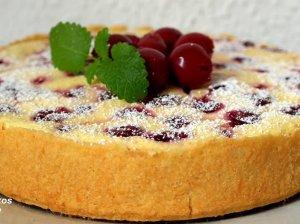 Puikus varškės pyragas su vyšniomis