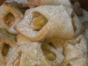 Varškinės tešlos sausainukai su obuoliais - be kiaušinių ir sviesto