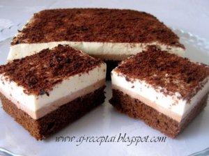 Šventinis pyragas su šokolado ir maskarponės kremu