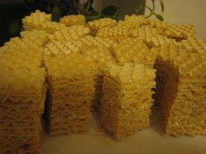 Greitas vaflinis pyragas su kondensuotu pienu