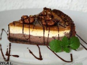 Skanusis Andželikos varškės pyragas su karameliniu viršumi