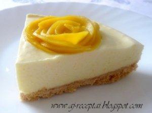 Gaivus nekeptas tortas su mangų kremu