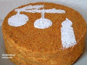 Skanusis medaus tortas pagal Andželiką