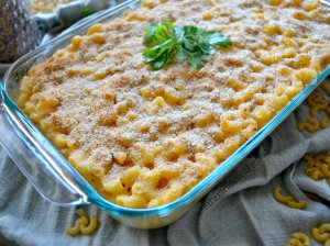 Mac and Cheese makaronų sūrio apkepas