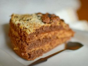 Karamelinis šokoladinis maskarponės tortas