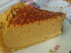 Nekeptas karamelinis varškės tortas