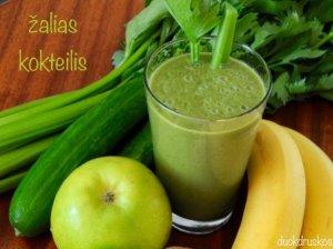 Žaliasis kokteilis su bananais ir špinatais - energingai dienos pradžiai