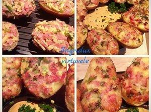 Tobulai skanios užkeptos bulvės
