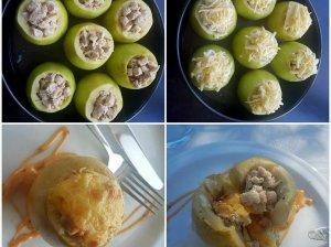 Vištiena įdaryti orkaitėje kepti obuoliai